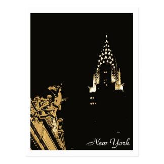 Carte Postale Midtown New York : Central grand et Chrysler