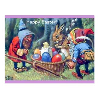 Carte postale mignonne d'amusement de Pâques