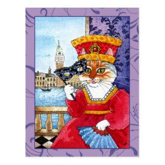Carte postale mignonne de carnaval ou de