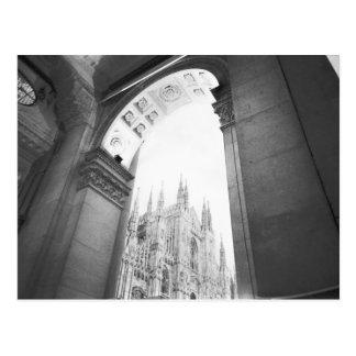 Carte Postale Milan Italie, vue de puits du Duomo