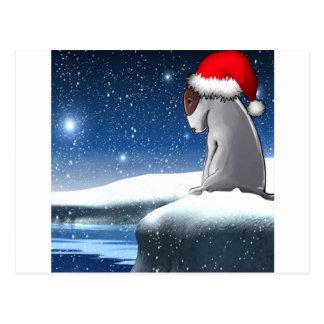 Carte Postale Milo de Noël (le chiot de bull-terrier)