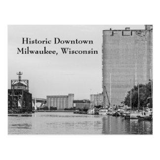Carte Postale Milwaukee du centre historique le Wisconsin