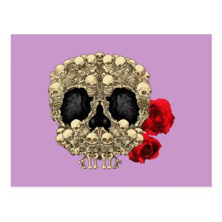 Carte Postale Mini crâne de sucre de squelettes