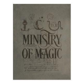 Carte Postale MINISTÈRE du charme   de Harry Potter de MAGIE