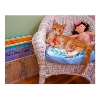 Carte Postale minou Cole de poupée