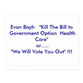 """Carte Postale Mise à mort d'Evan   Bayh """"le Bill à l'option de"""