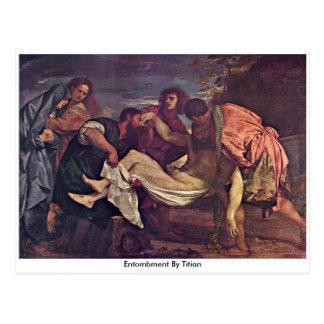 Carte Postale Mise au tombeau par Titian