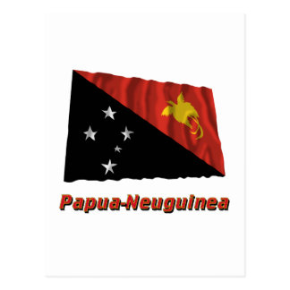 Carte Postale MIT Namen de la Papouasie-Neuguinea Fliegende