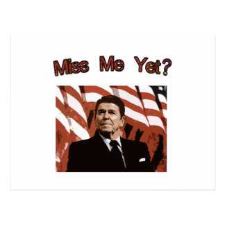 Carte Postale Mlle Me Yet ?  Reagan Posterized