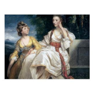 Carte Postale Mme Thrale et sa fille Hester 1777-78