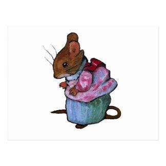 Carte Postale Mme Tittlemouse, après Beatrix Potter : Pastel