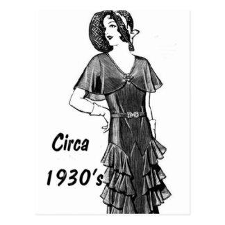 Carte Postale Mode Circa les années 1930
