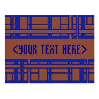 Carte Postale modèle brun et bleu