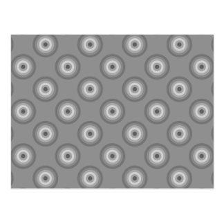 Carte Postale Modèle gris de cercles