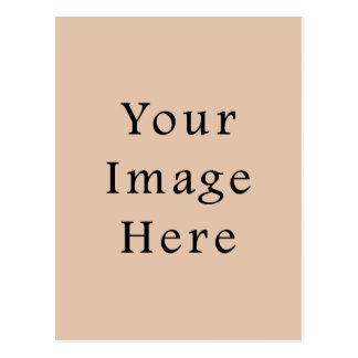 Carte Postale Modèle neutre de blanc de tendance de couleur de