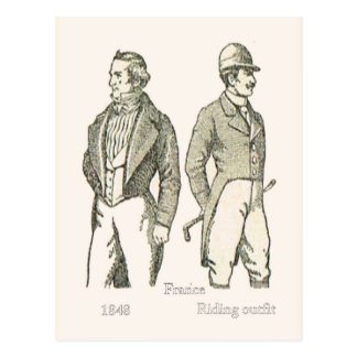 Carte Postale Modes, monsieur français 1848