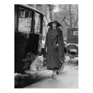 Carte Postale Moi et mon Westie, les années 1920