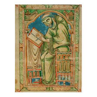 Carte Postale Moine Eadwine au travail sur le manuscrit,