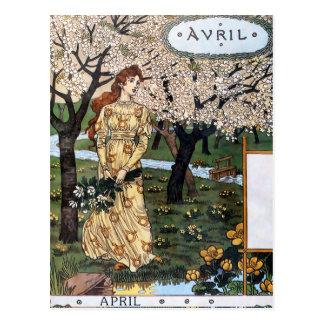 Carte postale : Mois d'Aril - Avril