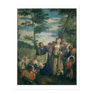 Carte Postale Moïse a secouru du Nil, 1580 (l'huile sur la