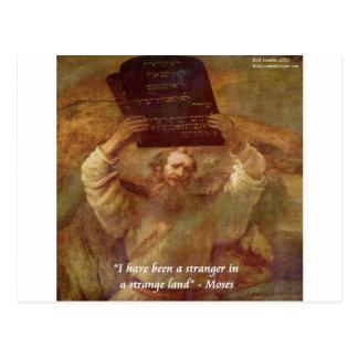 Carte Postale Moïse et citation biblique de Rembrandt