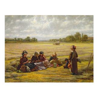 Carte Postale Moissonneuses se reposant au soleil, Berkshire,