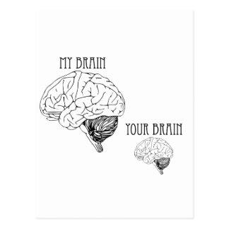 Carte Postale Mon cerveau, votre cerveau