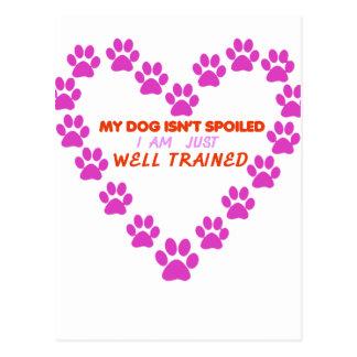 Carte Postale MON chien 's EST NON CORROMPU moi SUIS SIMPLEMENT