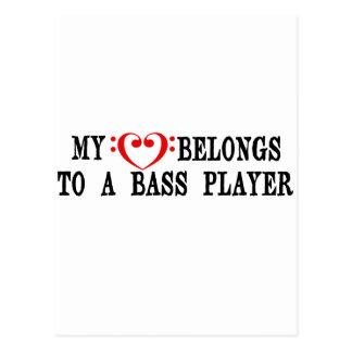 Carte Postale Mon coeur appartient à un bassiste