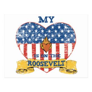 Carte Postale Mon coeur est sur le Roosevelt