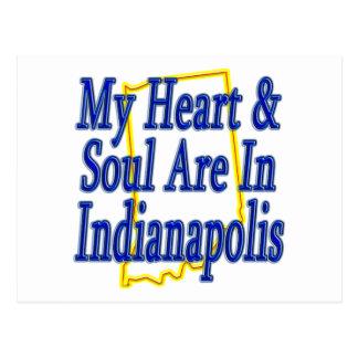 Carte Postale Mon coeur et âme sont à Indianapolis