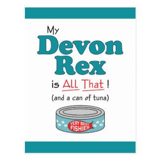 Carte Postale Mon Devon Rex est tout cela ! Kitty drôle