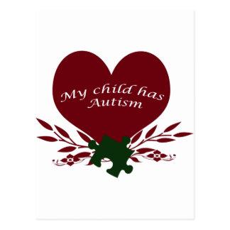 Carte Postale mon enfant a l'autisme