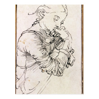Carte Postale Mon épouse d'Agnes', Durer représentée en tant que