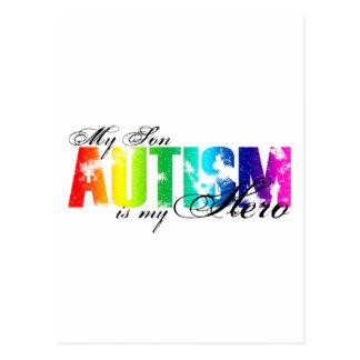 Carte Postale Mon héros mon fils - autisme