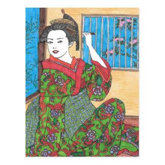 Carte Postale Mon kimono
