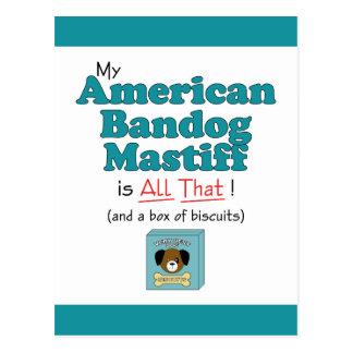 Carte Postale Mon mastiff américain de mâtin est tout cela !