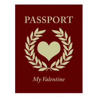 Carte Postale mon passeport de valentine