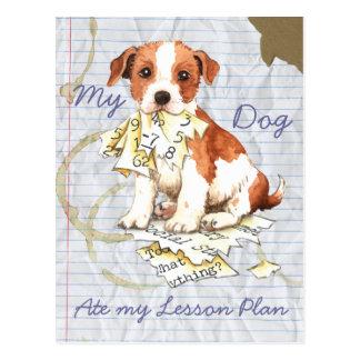 Carte Postale Mon pasteur Russell Terrier a mangé mon plan de