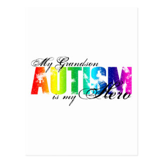 Carte Postale Mon petit-fils mon héros - autisme