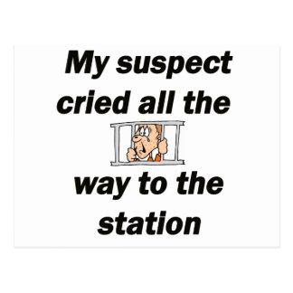 Carte Postale Mon suspect pleuré