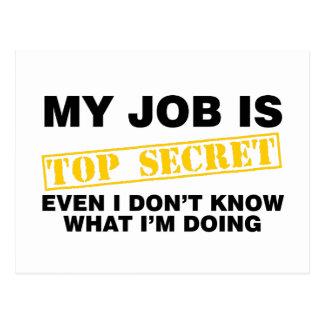 Carte Postale Mon travail est extrêmement secret
