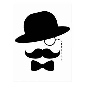 Carte Postale Monsieur avec la moustache