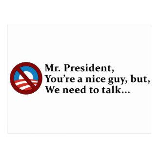 Carte Postale Monsieur le Président, nous devons parler…