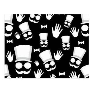 Carte Postale Monsieur - motif noir et blanc