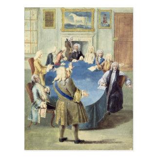 Carte Postale Monsieur Robert Walpole adressant son coffret
