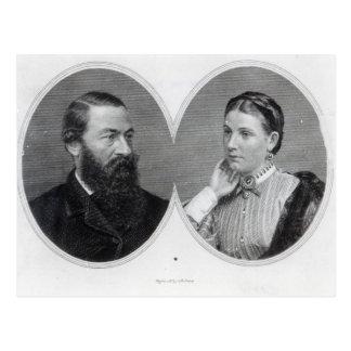 Carte Postale Monsieur Samuel et Baker de Madame Florence, 1866