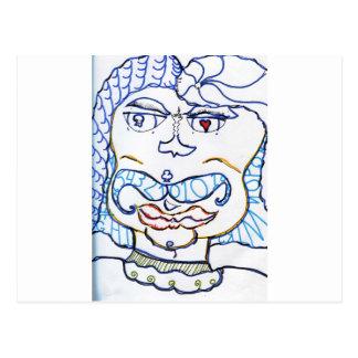 Carte Postale Monsieur symbolique