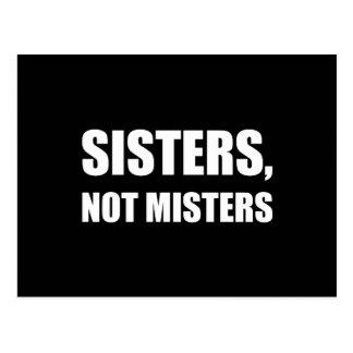 Carte Postale Monsieurs de soeurs pas