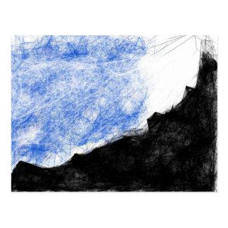 Carte Postale montagne rocheuse et rêve